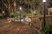 The Magnolia Plantation at night is like a fairy tale.