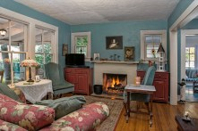 Miss Huey's Cottage living room invites you to sit and visit.
