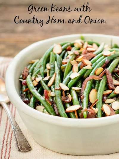 Green Beans with Country Ham and Onion