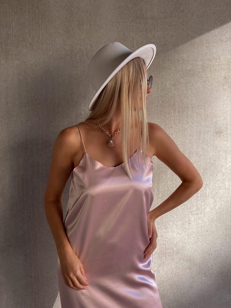 peony silk slip midi dress
