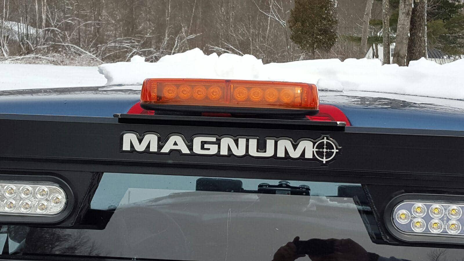 led mini warning light mounted on 14 bracket