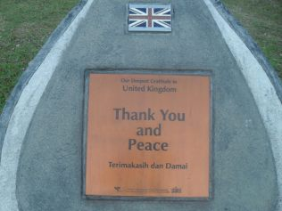 A thank you stone to the British