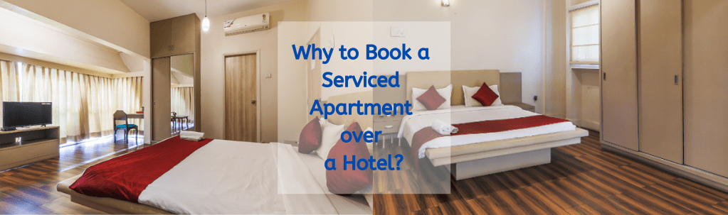Book serviced apartment over hotel