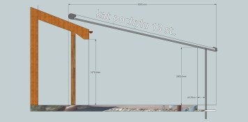 projekt pergoli rolowanej na dachu
