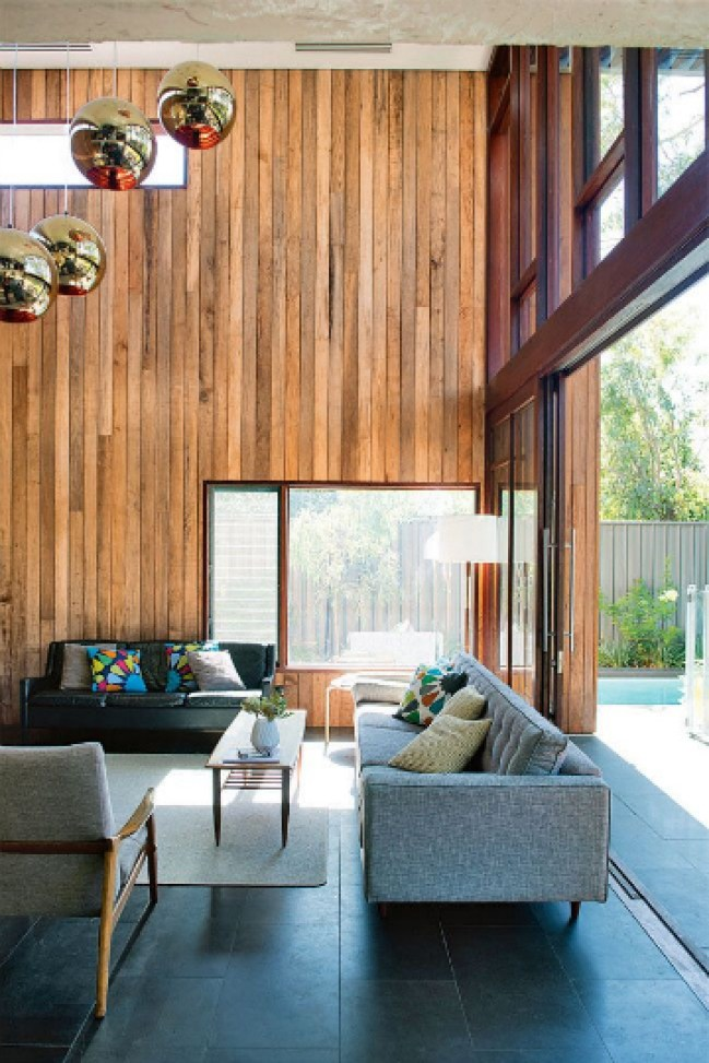 living room amber hues