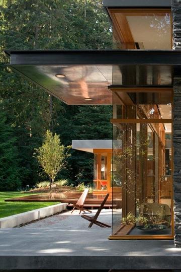 terrace amber hues
