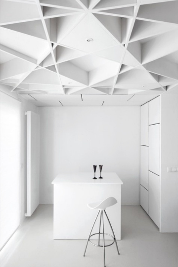 vaulted ceiling white on white