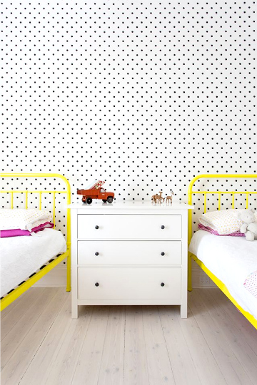 kids rooms yellow beds