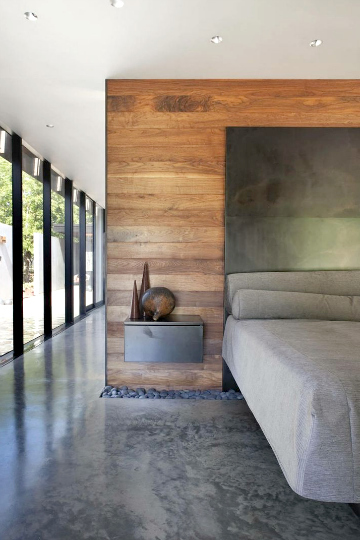concrete polished bedroom