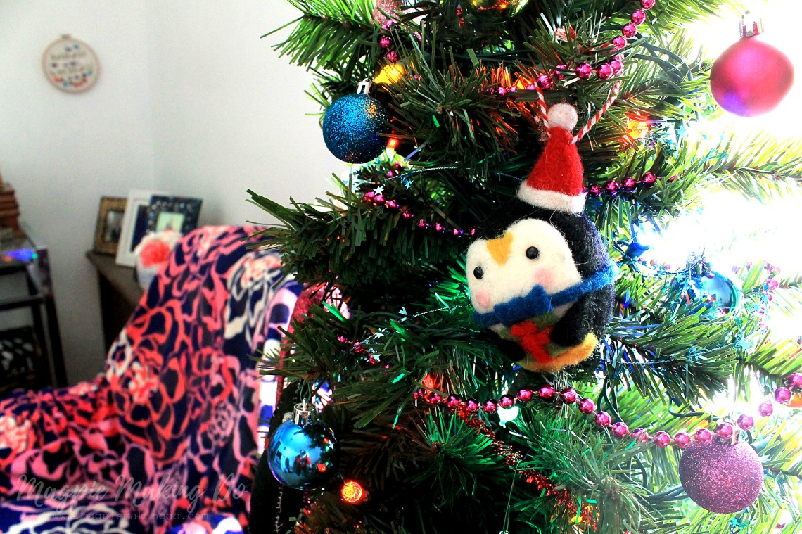 Magpie Making Do: My Candy Colored Office Christmas Decorations