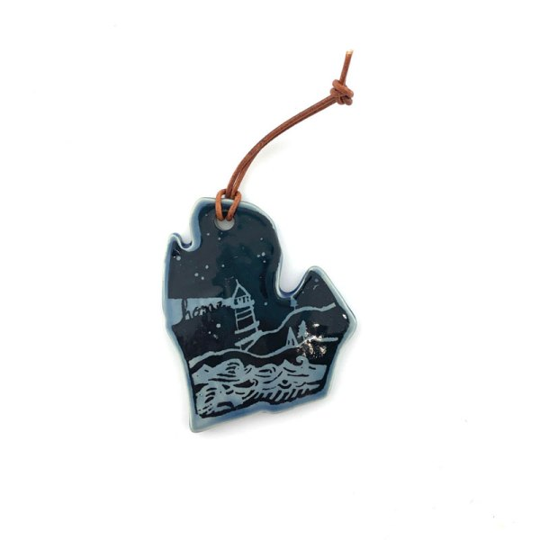 Blue Michigan Ornament