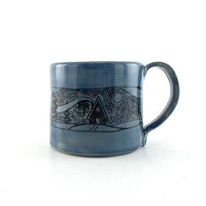woodland pottery mug