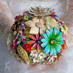 vintage Brooch bouquet as featured on The National Vintage Wedding Fair blog