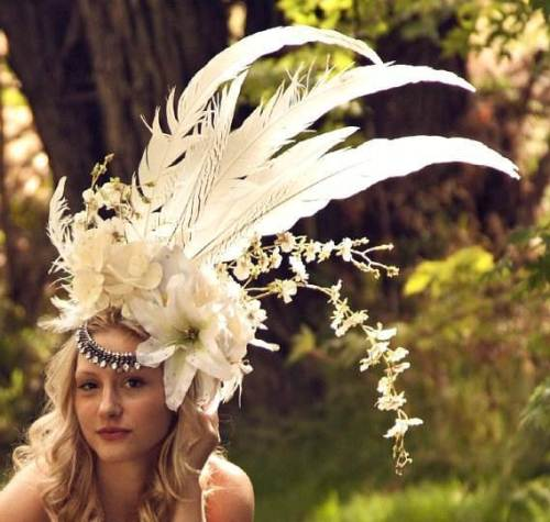White Diamonds Headdress via CreatixbyWillow