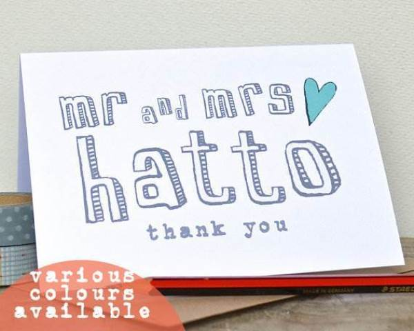 Etsy wedding thank you card 3 via National Vintage Wedding Fair