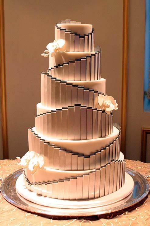 art deco1920s wedding cake