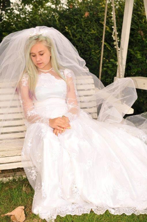 Real Green Dress vintage wedding dresses at the National Vintage Wedding Fair
