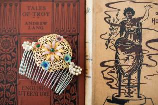 La Belle Epoque hair accessories via national Vintage Wedding fair blog