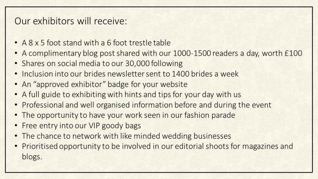 Our exhibitors will receive