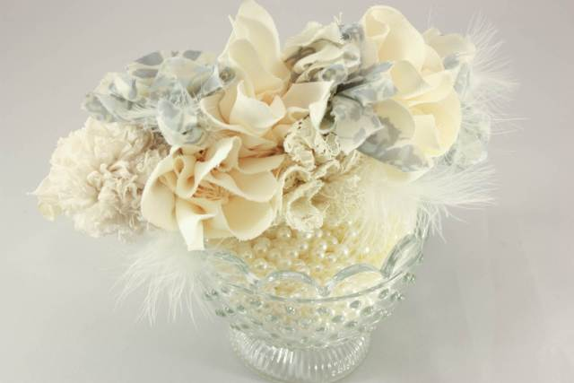 Daphne Rosa vintabe insired wedding accessories via The National Vintage Wedding Fair