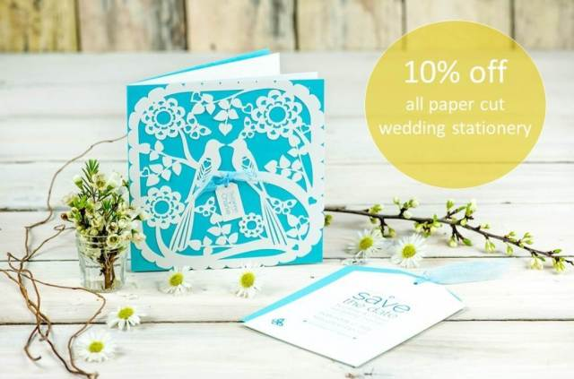 Paper Tree Design papercut wedding stationery as featured in the Unique Bride Journal
