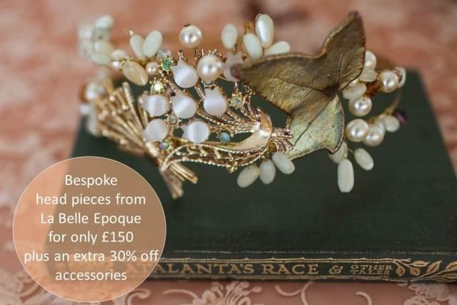 La Belle Epoque wedding accessories as see in the Unique Bride Journal