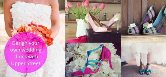 Design your own wedding shoes with Upper Street in Unique Bride Journal