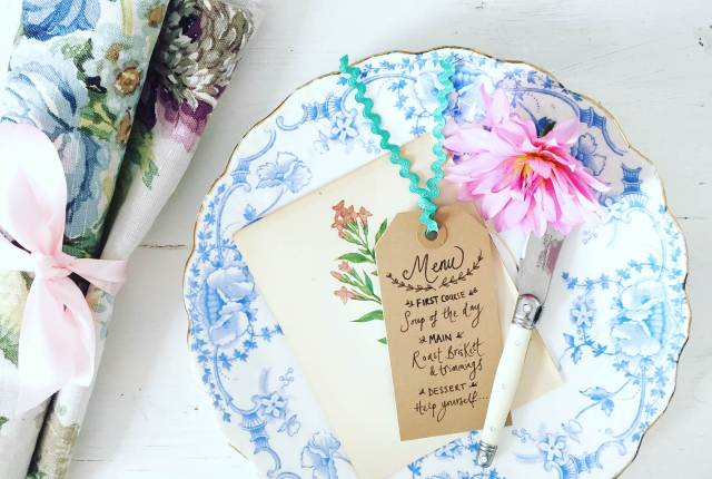 Blue styling Wedding Ideas from The House That Vintage Could