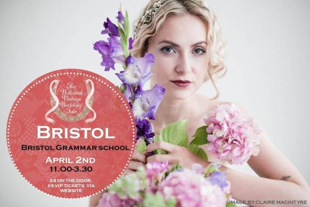 Bristol poster for the National Vintage Wedding Fair