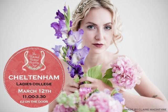 Cheltenham poster for the National Vintage Wedding Fair