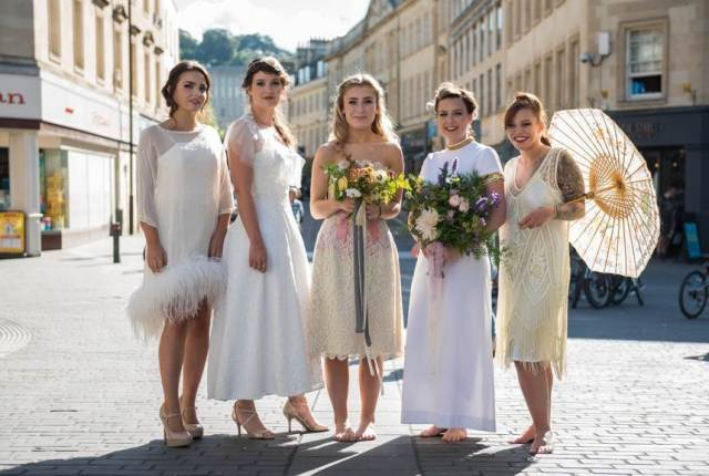 Bath National Vintage Wedding Fair photo by Joel Davies featuring vintage wedding dresses