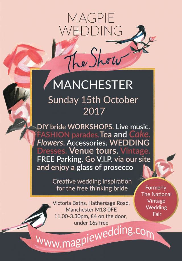 Manchester October 2017 flyer for Magpie Wedding