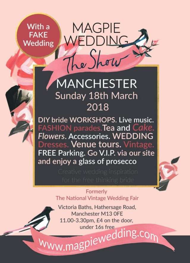 Manchester Magpie Wedding Show Poster