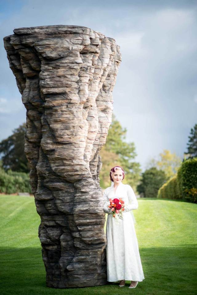 A Yorkshire vintage wedding with a 1950s dress photographed by Tim Simpson