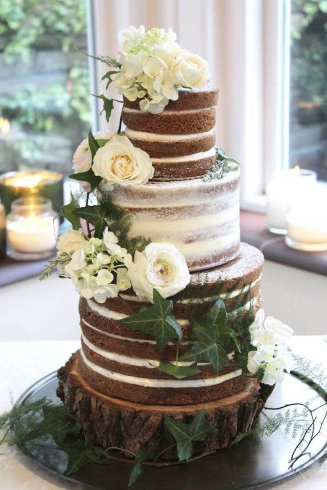 Wedding Cake Trends The Semi Naked Cake