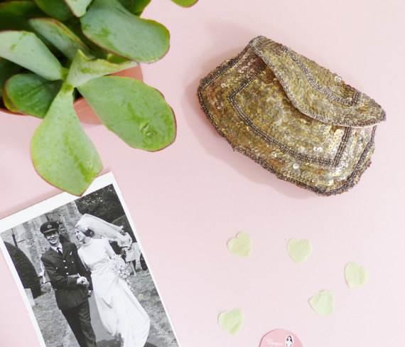 Vintage wedding bag from Unique Bride Club for sale via Magpie Wedding Shop