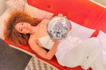 1970s glitter ball disco wedding inspiration