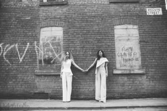 An urban nightclub Studio 54 wedding shoot in Manchester