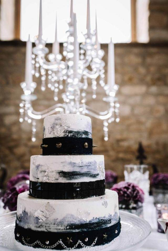 Pretty in Punk Wedding Inspiration cake