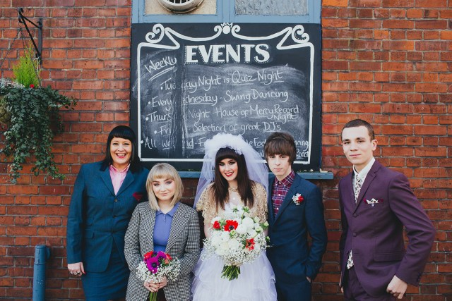 1980s This is England punk and mod wedding