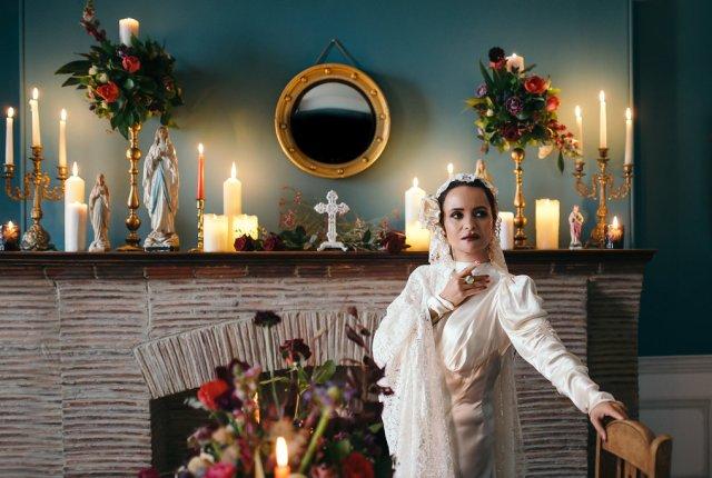 Dark yet Dreamy Alternative Bridal Style Madonna Inspired Shoot