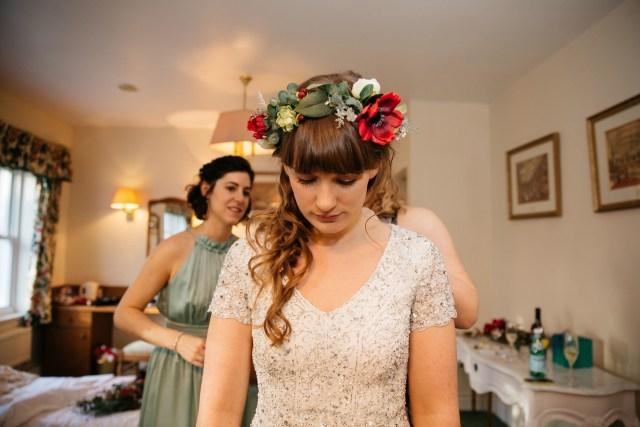 A DIY Festive Yorkshire Wedding at Monk Fryston Hall