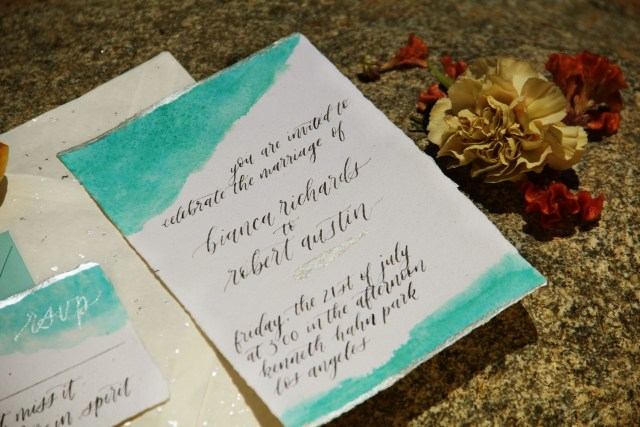 Exotic Outdoor Wedding with Gold and Turquoise Touches