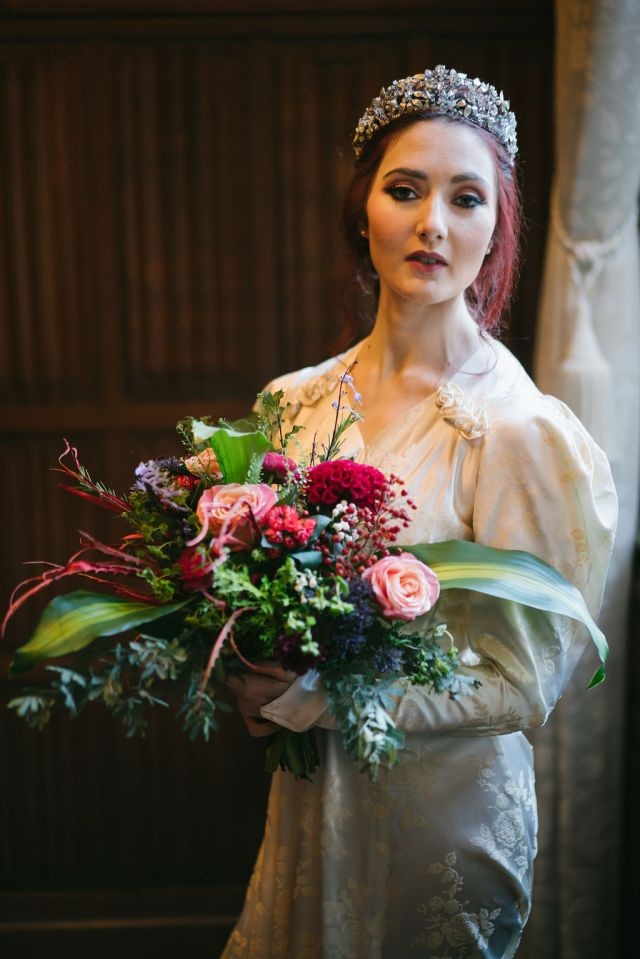 Opulent Red and Gold Vintage Christmas Wedding