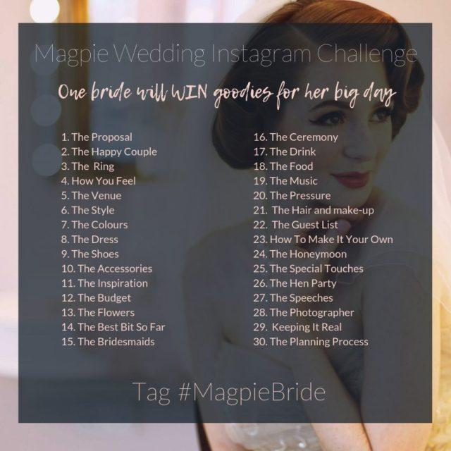 #MagpieBride Instagram Challenge