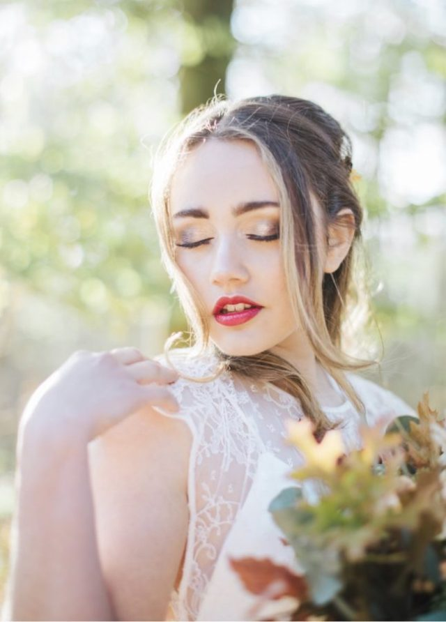 How to apply a perfect red lipstick for your Valentine's Day wedding