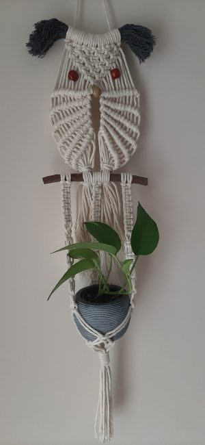 Macramé Owl With Plant Hanger