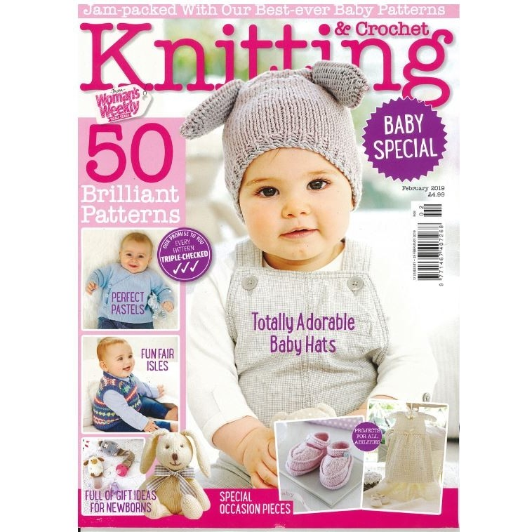 Womans Weekly Knitting And Crochet February 2019