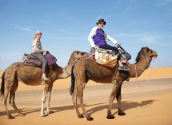 Mag and Sanford on Camels