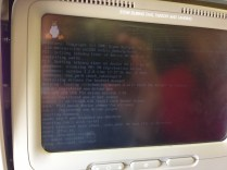 Apparently the in-flight entertainment on this particular 767 used some flavor of Linux.